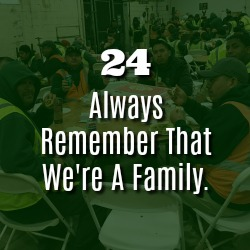 ALWAYS REMEMBER THAT WE'RE A FAMILY.