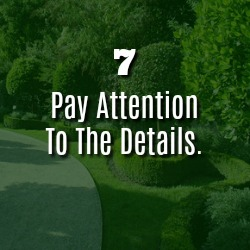PAY ATTENTION TO THE DETAILS.